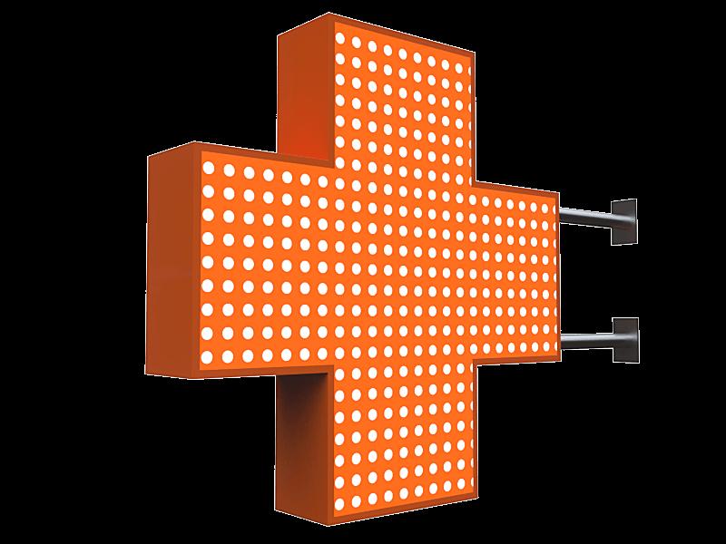 Аптечный крест от рекламного агентства Точка Взлета в Краснодаре