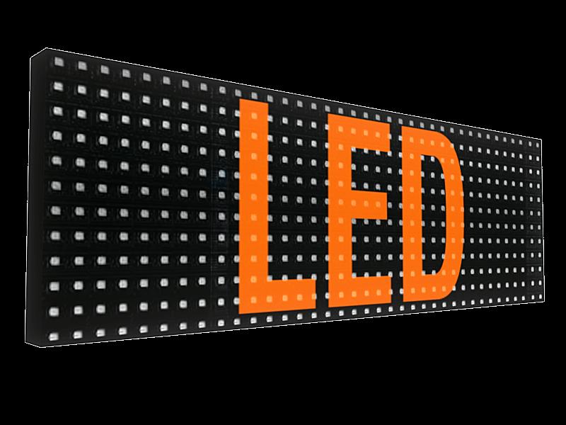 LED Вывеска с бегущими буквами от рекламного агентства Точка Взлёта в Краснодаре